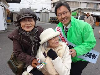 高知市朝倉の街頭宣伝で(6日)