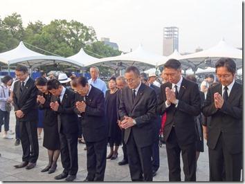 広島原爆慰霊碑に献花(8月6日)